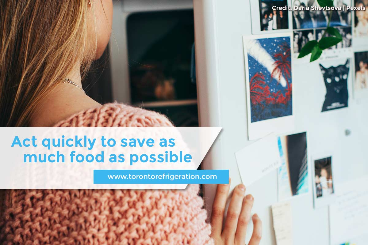Act quickly to save as much food as possible