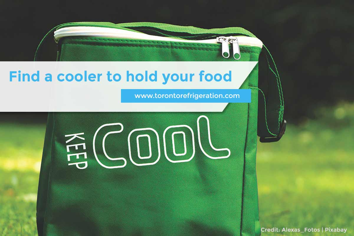 Find a cooler to hold your food