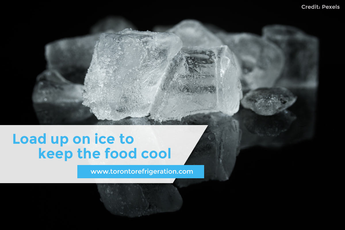 Load up on ice to keep the food cool
