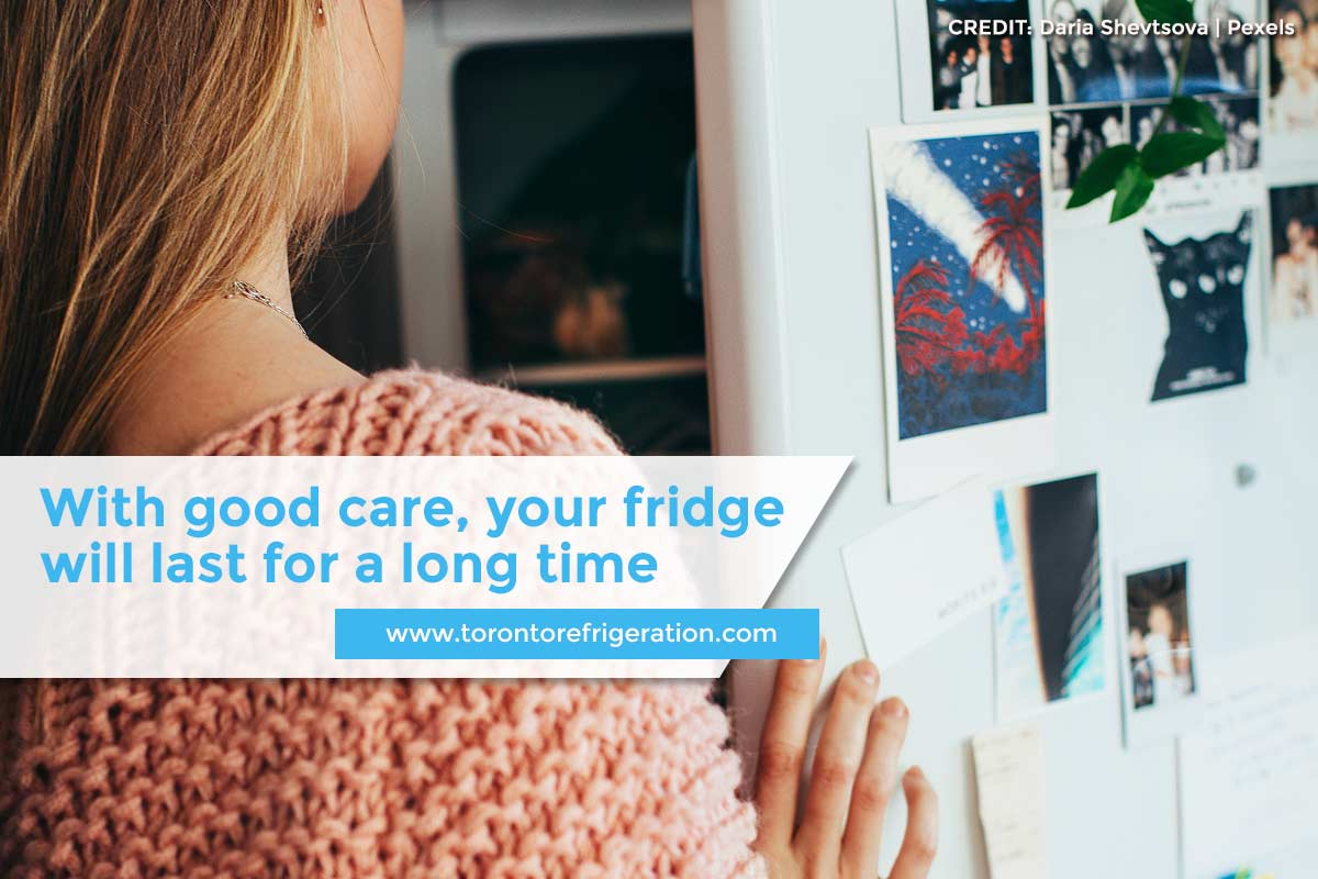 With good care, your fridge will last for a long time