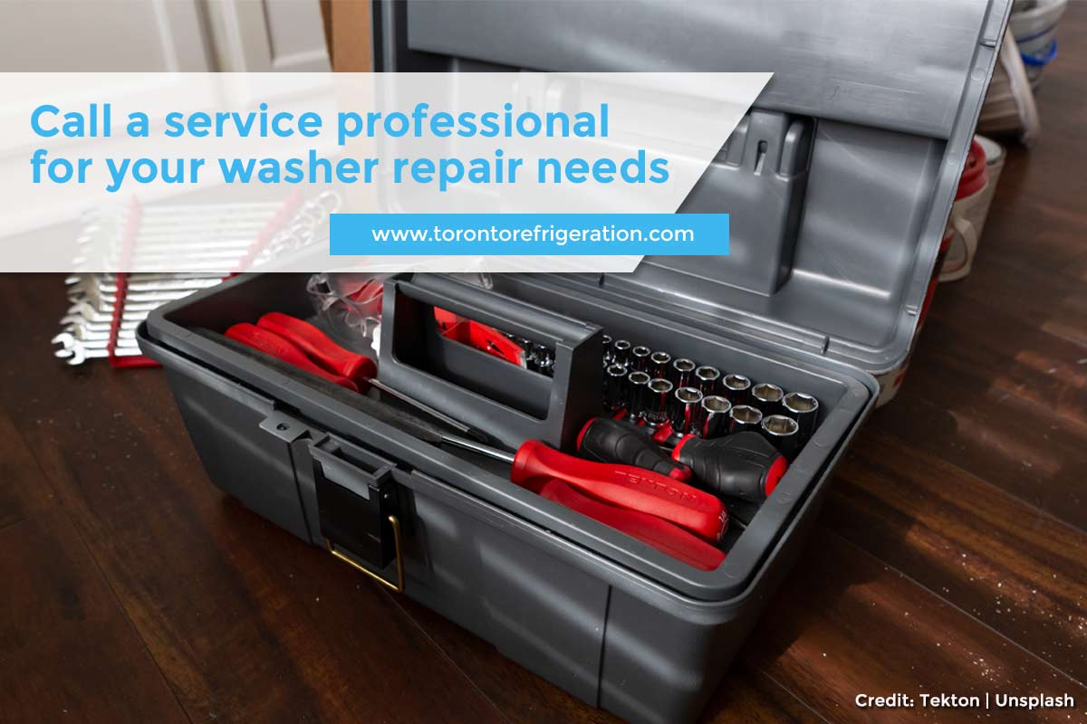 Call a service professional for your washer repair needs