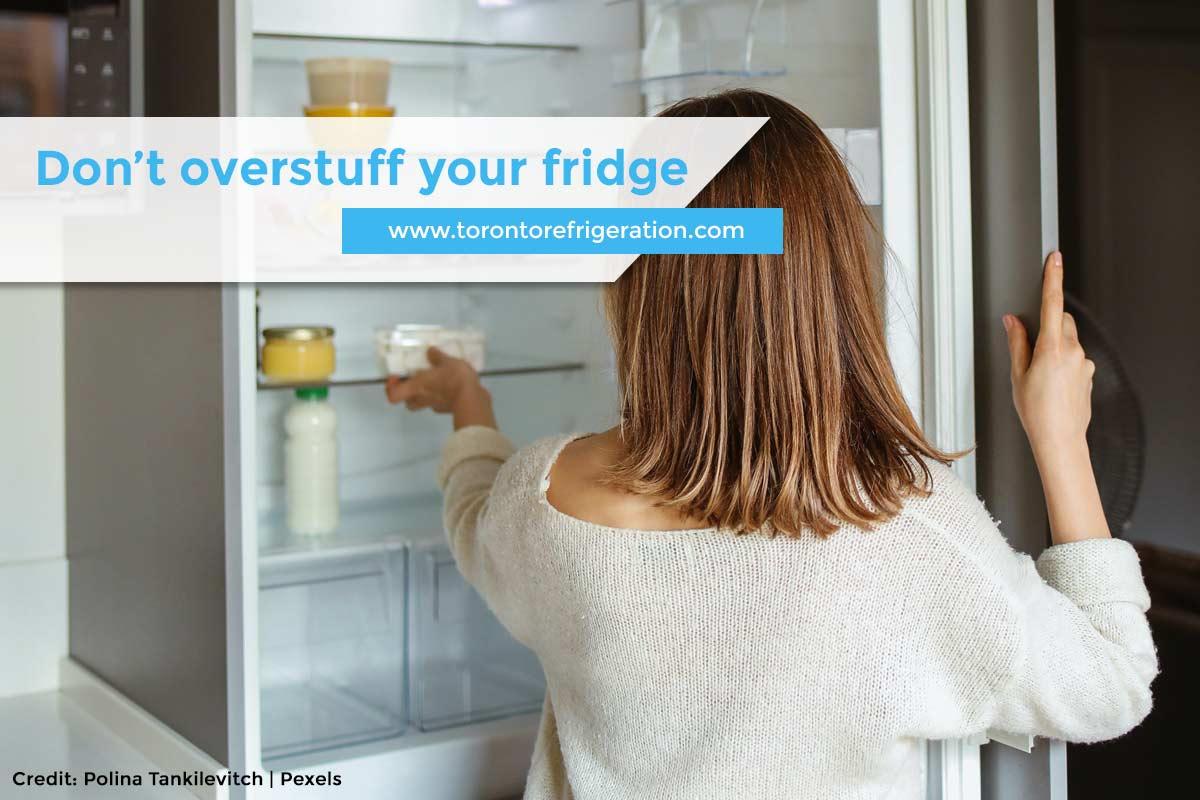Don't overstuff your fridge
